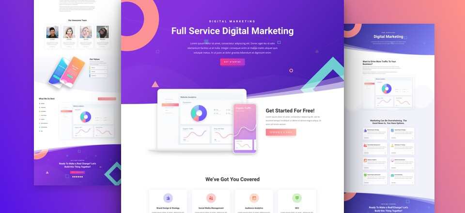 Divi Digital Marketing Layout Pack